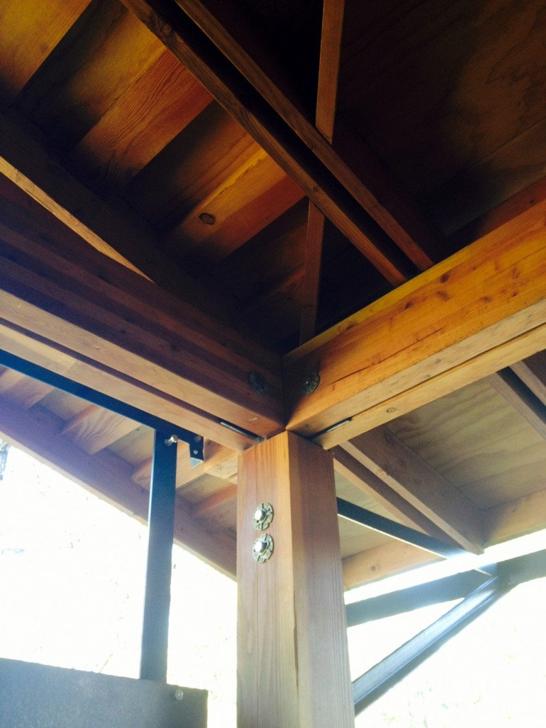 Beam work on Methow Valley Home