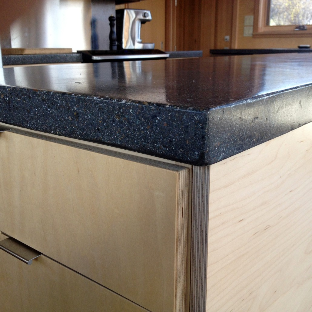 Concrete with Maple Kitchen in Methow Valley