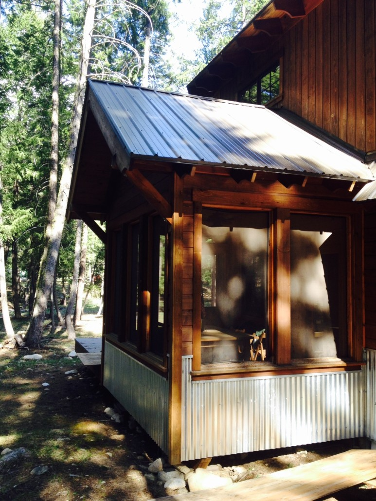 Screen Porch Mazama Cabin